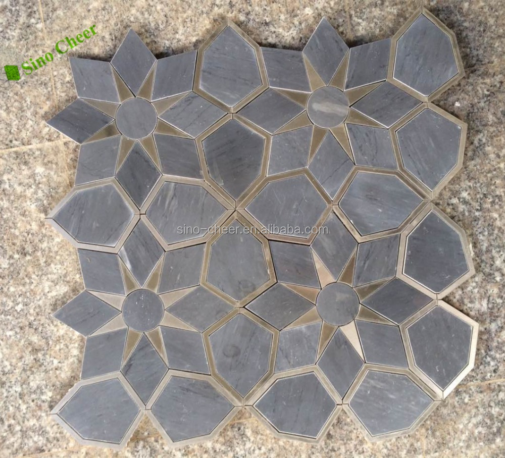 15mm Grid China Bardiglio Gray Outdoor