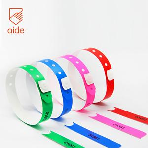 Make In China Clear Disposable Id Plastic Wristband With Stub
