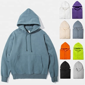 Auletgroup factory OEM Wholesale many colors plain blank hoodies with no labels for men