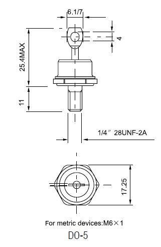 diodes 100v 40a 40HF DO5