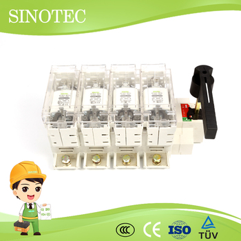 4 Gang Combination Switch Covers 3p Fuse Disconnector 33kv Isolators
