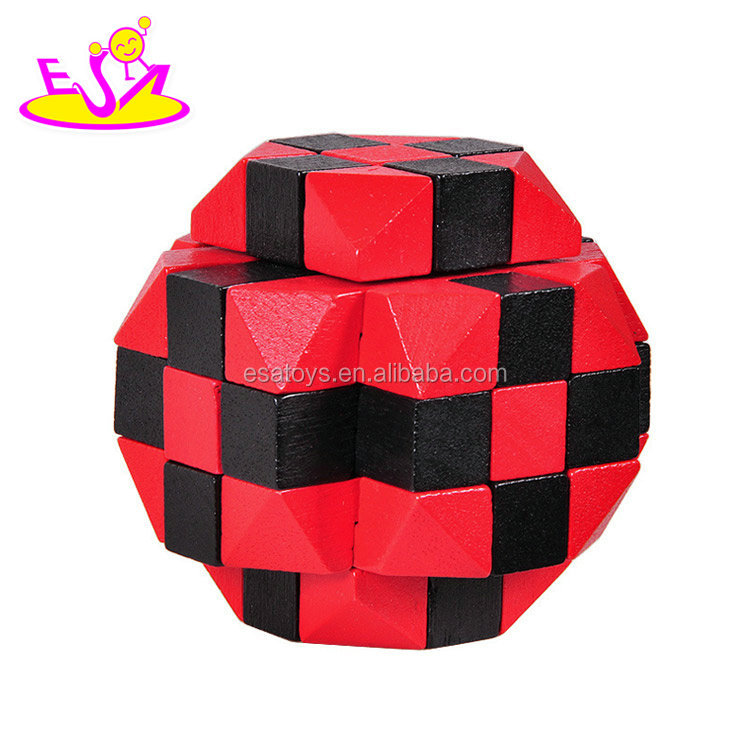 New hottest educational 3d wooden magic puzzle cube for kids brain teaser W11C035