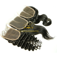 7A Brazilian Body Wave Closure nice quality new fashion silk base lace frontal closure