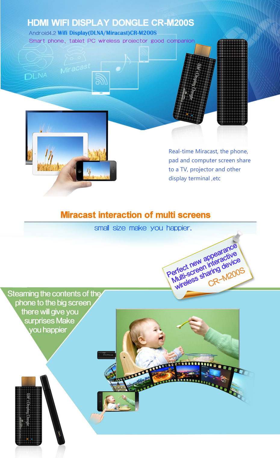 Cloudnetgo RK3036 Miracast Chromecast Airplay Android Wireless HDMI Dongle Linux