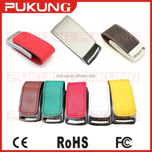 Factory Customized 4gb 8gb 16gb 32gb OEM/ODM leather usb flash drive stick