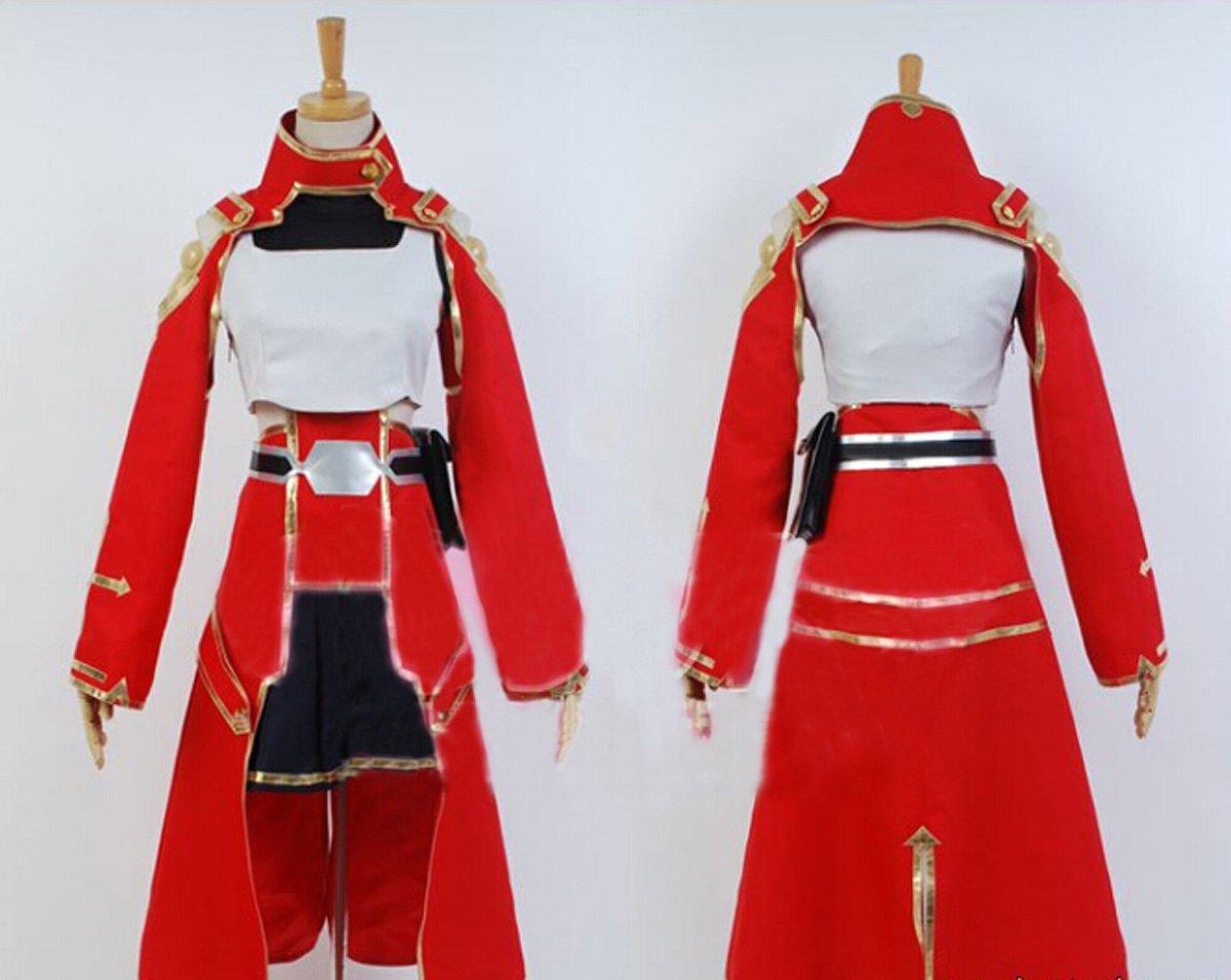 Get Quotations · FOCUS-COSTUME Sword Art Online Shirika Suit Cosplay Costume 49fbffa3279a