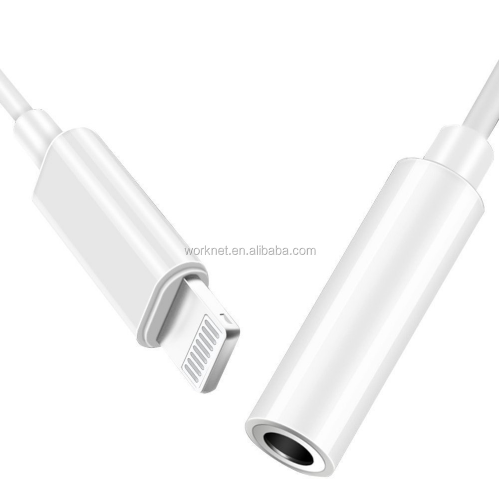 work for newest ios 11 for iphone 7/8/X earphone converter 3.5mm Headphone Jack Adapter Earphone Aux Cable,for iphone X adapter
