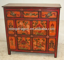 Chinese Antique Tibetan reproduction wood furniture with hand painted