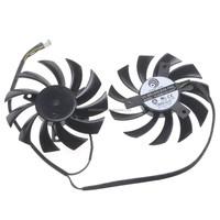 2 pieces/lot POWER LOGIC PLD08010S12HH DC 12V 0.35A 4 Wire Dual Fan MSI 460GTX 560GTX 570GTX 580GTX R6790 R6870 R6850HAWK fan