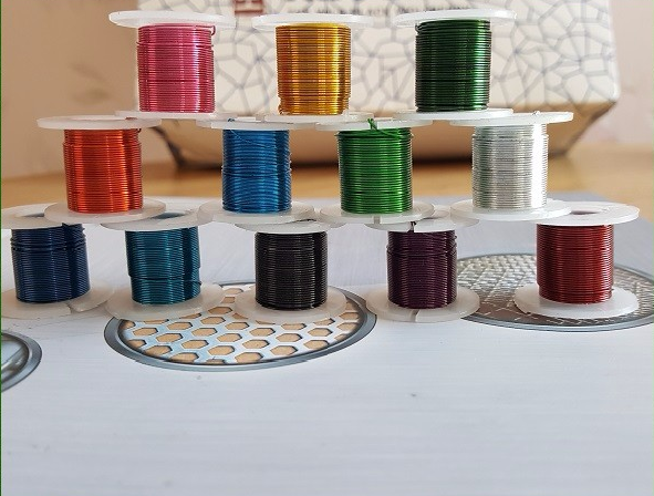 Different Colors Of Metallic Beading Wire On Reel