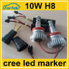china supplier wholesale price 4leds cree h8 40w angel eyes led marker