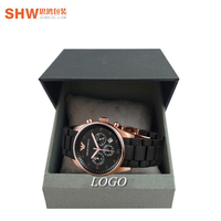 Logo Printed Luxury Latest Design Custom Magnetic Flip Watch Paper Box Gift Packaging With Insert