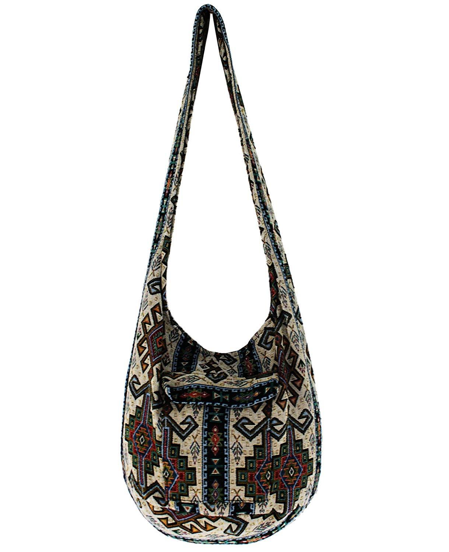 85a2a2285df7 Buy YAAM Green Thai BOHO BAG SLING Crossbody bag Tote Bag Ivory ...