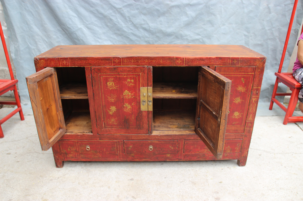 Chinese antique asian furniture shanxi painted wedding for We buy old furniture