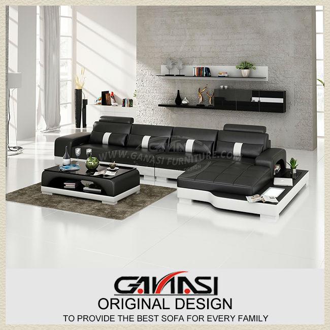 Sofá de la esquina de diseño, muebles de cuero de miami, en forma de ...
