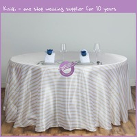 KA309 Stripe Wholesale SATIN Banquet Linen Wedding Party Restaurant Tablecloth
