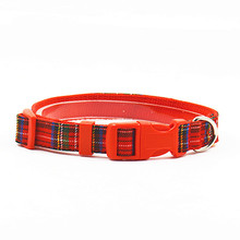 Tartan Design Dog Nylon Collar and Leash Quality Pet Prodct Dog Leads Set