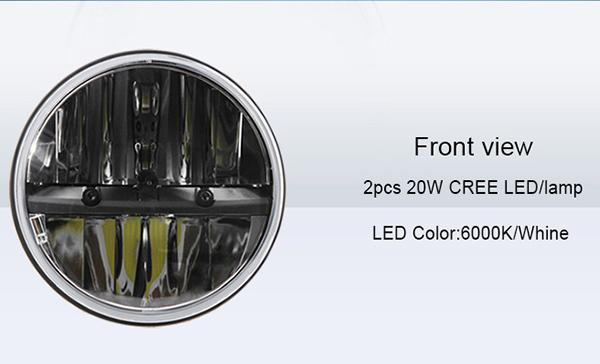 7'' High/low Beam H4/hb2/9003 Led Head Light,Complex Reflector ...