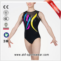 shiny leotard/gymnastics leotard for girls/sex leotard