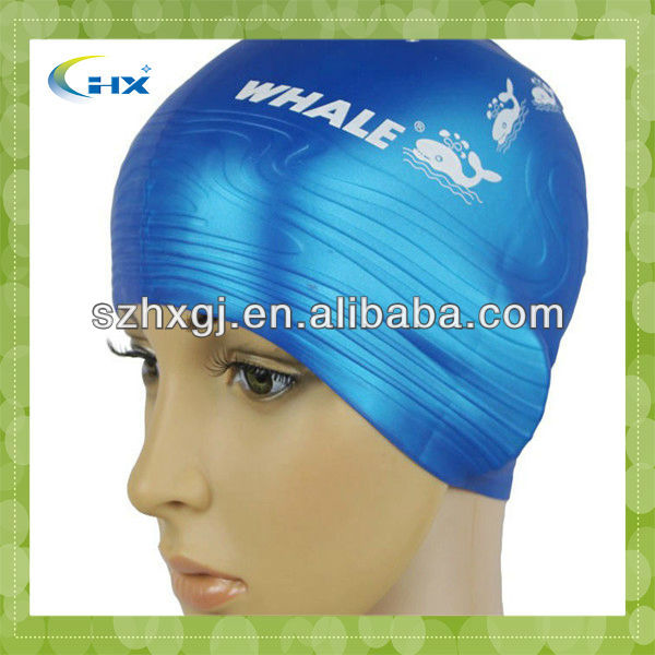 Lovely hot sell silicone cool silicone swimming caps custom for children/kids swim cap
