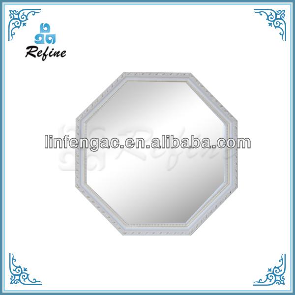 octogonale en bois blanc beaut ikea miroir mural. Black Bedroom Furniture Sets. Home Design Ideas