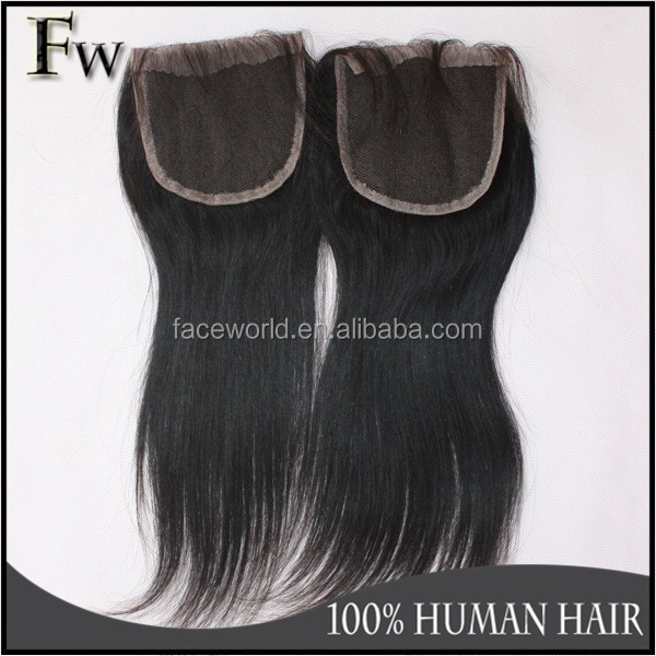 Virgin brazilian hair with full cuticle attached remy human hair closure piece