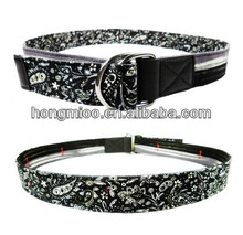 Double loop D buckle canvas belt classic and modern double-sided reversible strap valentine's day lover belt