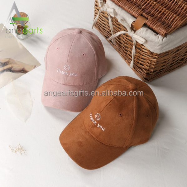 Custom dad cap 6 panel embroidery suede baseball cap hat