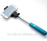 Newest plastic pole stick for taking picture and clip for smart phone photograph subsidiary pole