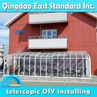 East Standard retractable solarium glass