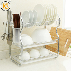 Home kitchen organizer Iron wire three tires b-type cook dish rack