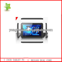 7 inch screen rockchip RK3168 dual core 1.2G android 4.1 tablet pc