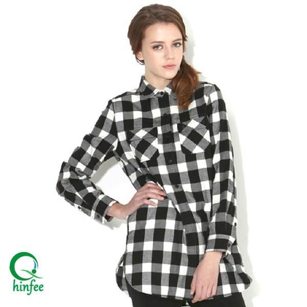 Ssw002 siyah ve beyaz flanel onay toptan ekose g mlek for White and black flannel shirt womens