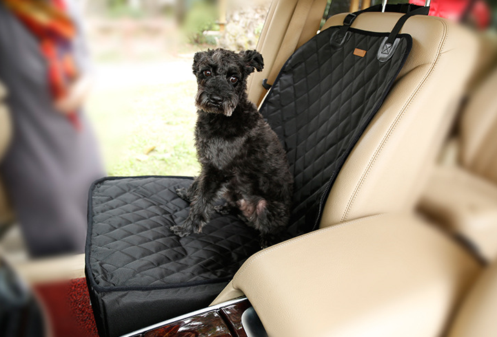 Quilted Pet Front Seat Cover with Booster Seat for Dog