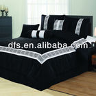7pcs Faux Silk Embroidered Comforter Set