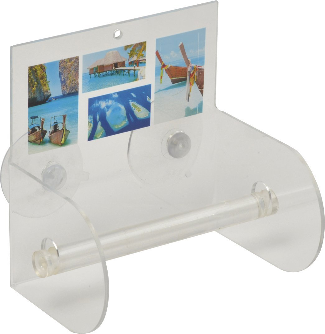 EVIDECO 6704370 Paradise Bathroom Toilet Tissue Paper One Roll Holder Suction Mounted