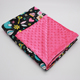100% Polyester Material Warm Keeping Minky Dot Fleece Baby Blanket