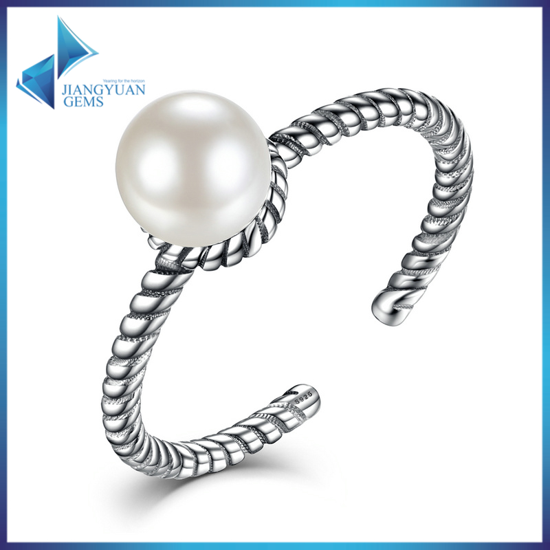 fashion latest design jewellery wholesale cheap pearl ring mountings