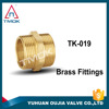 wholesale welding pipe brass material double union compression nipple pneumatic flexible adapter BSP/NPT