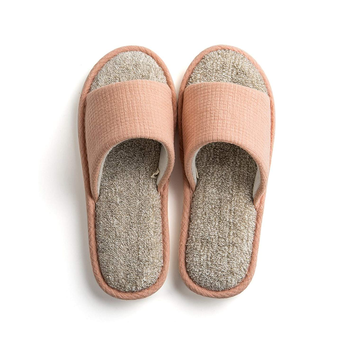 Paangkei Unisex Indoor Home Cotton Slippers/Slide,Womens/Mens Open Toe Spring/Summer/Autumn Indoor House Towel Cloth Shoes