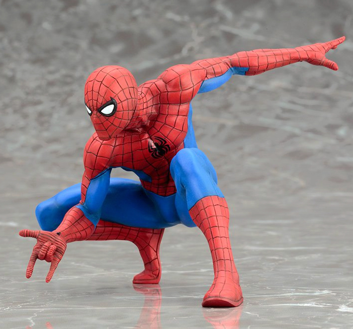 Fatto a mano in fibra di vetro movie super hero modello a grandezza naturale spiderman statua