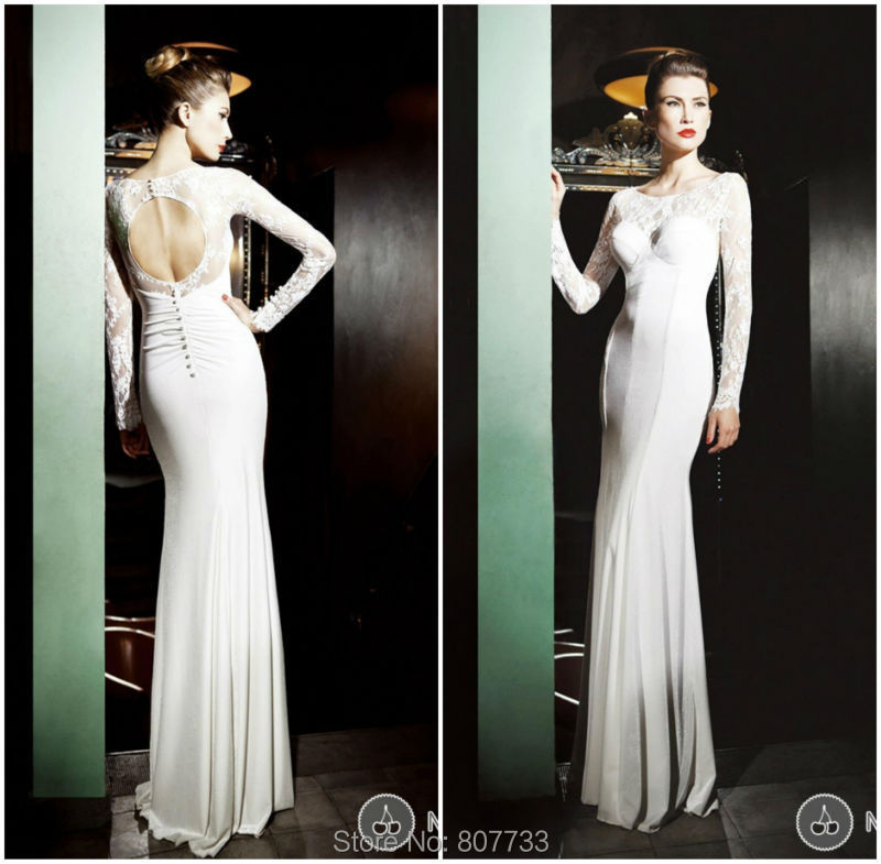 Simple Elegant Open Back Long Sleeve Wedding Dress: Aliexpress.com : Buy JM.Bridals CW3394 Elegant Without