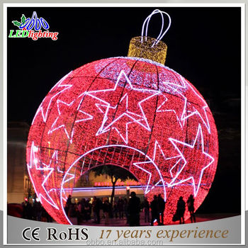 Giant Outdoor Multi Color Hanging Led Lighted Christmas Ball