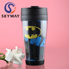 14 OZ Food Grade Plastic Double Walled Coffee Cup with Handle