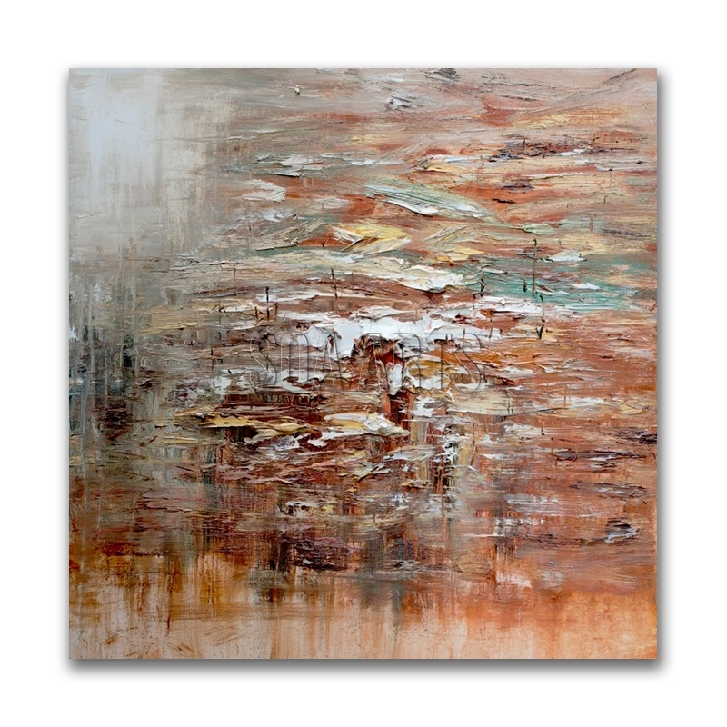 Decorative Thick Textured Abstract Canvas Painting