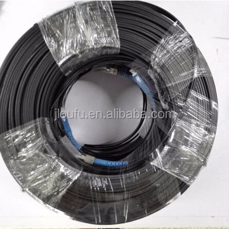 OUFFU FIBER OPTICAL PATCH CORD,FTTH steel central strength bow type drop fiber optic patch cord,China Manufacture