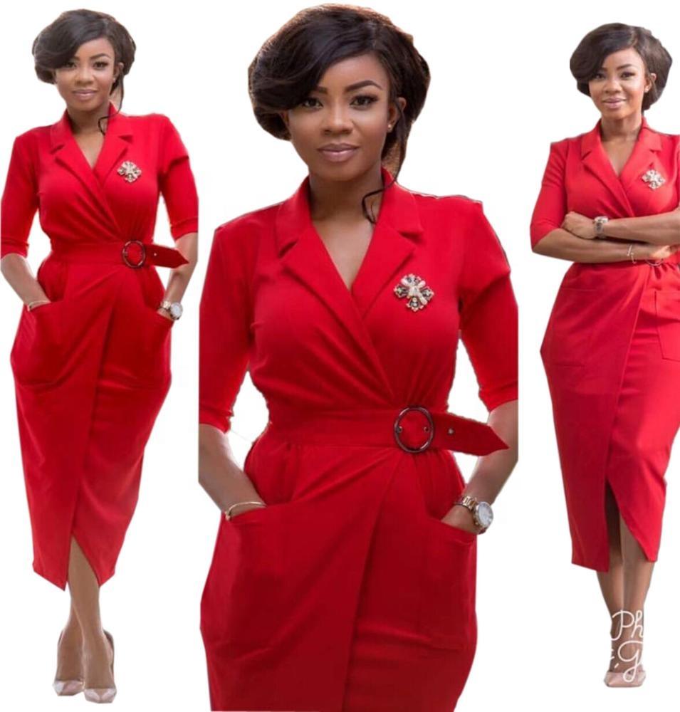 5dc631f0b6d China Ladies Office Dress