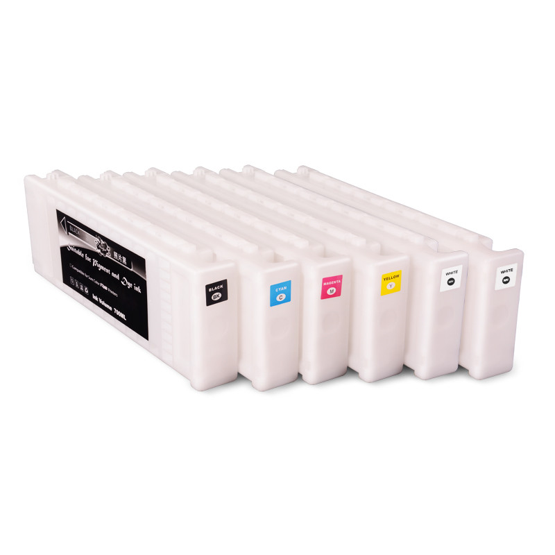 Ocbestjet T7251-T7254 T725A T725A For Epson Surecolor F2000 Compatible Ink Cartridge Full With 700ML Textile Ink