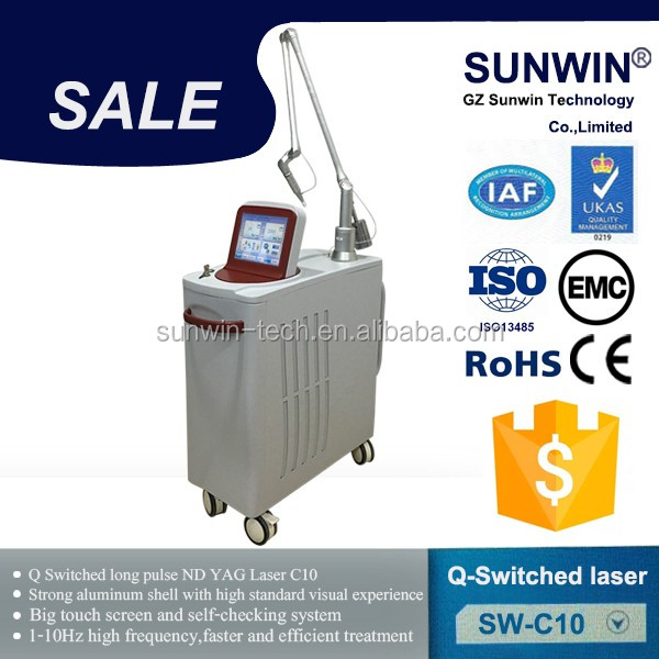 1064 nm / 532nm tattoo removal varicose veins q switched nd yag laser 2016