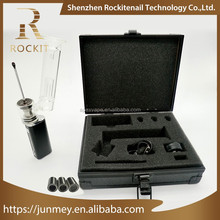 Electronic Cigarettes Newest Henail Wax Vaporizer Rockit henail portable with glass dab pipe